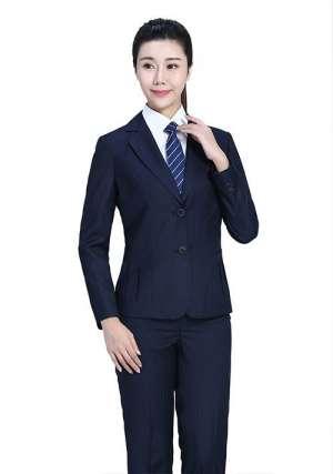 藏蓝条纹职业装