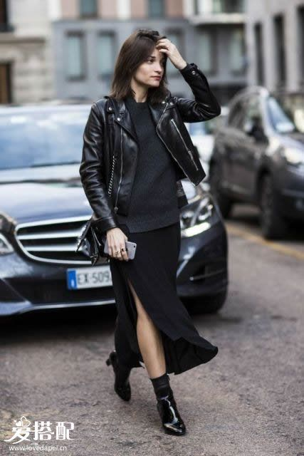 All-Black穿搭之裙子