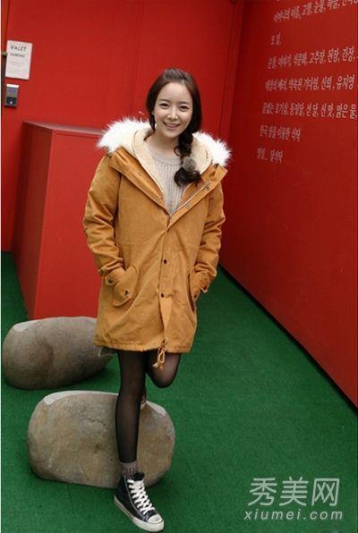 冬装外套 矮个女生也能变高妹